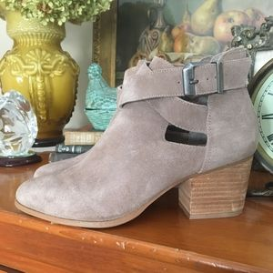 Sole Society Cut-out Azure Booties in Taupe $102